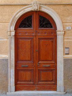 Door seen in Monterosso, one of the five villages of Cinque Terre in Italy.