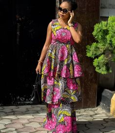 Beautiful and Latest Ankara Long Gown Styles in 2019 - Naija's Daily African Maxi Dresses, African Fashion Ankara, African Print Fashion, African Attire, Ankara Dress, Ankara Long Gown Styles, Lace Dress Styles, Nigerian Wedding Dresses Traditional, Coco