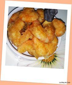 Le blog de Cata: Crevettes panées