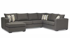 Stylus Made to Order Sofas Style :: Jamie | Can be configured many ways to maximize seating!
