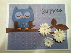 Owl Baby Shower Card.