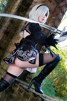 2B by Giu Hellsing - More at https://pinterest.com/supergirlsart #nier #automata #hot #sexy #cosplay #girl