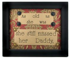 Missed Her Daddy Sampler with Buttons  $28.99