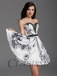 2916/ White Print/ Sizes 00-16/homecoming 2016/ Available at TT New York in the Boulevard Mall, Amherst NY
