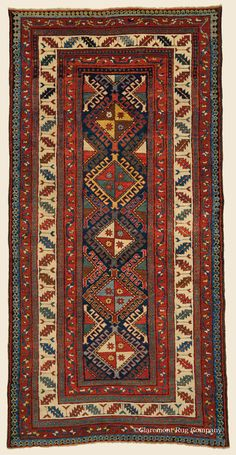 "Antique Late 19th Century Connoisseur-Caliber Southern Central Caucasian Shulaver Kazak Rug 3' 10"" x 7' 10"" - Claremont Rug Company"