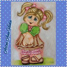 Artes Ana Vilela : Pintura em tecido, boneca