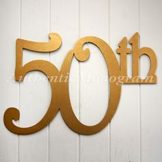 Check out Large Wooden Number Painted Monogram, 50th Anniversary, Birthday, Wedding Decor, Wall Decor, Home Decor, 24 inch on monogramcustomart