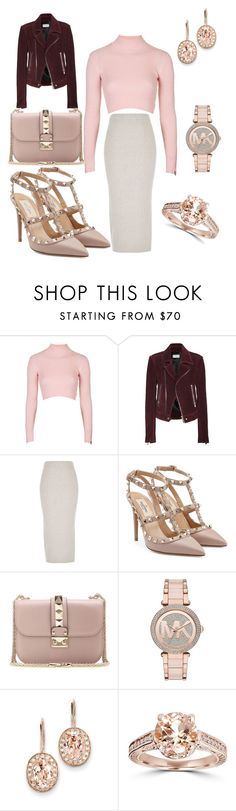 """""""Untitled #1033"""" by twilsm ❤ liked on Polyvore featuring Topshop, Balenciaga, River Island, Valentino, Michael Kors, Kevin Jewelers, Bliss Diamond, women's clothing, women and female"""
