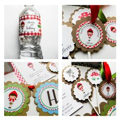 Little Red Riding Hood Themed Party Package by LuLuPaperPrints, $14.00