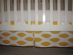 Mornin' Sunshine Custom Crib Skirt. $60.00, via Etsy.
