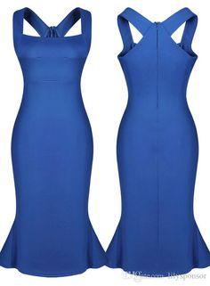 vestidos de fiesta para las mujeres vestido azul vestidos de tallas grandes para las mujeres vestidos de azul real del vestido del color azul más el vestido del tamaño del vestido del vendaje de Bodycon