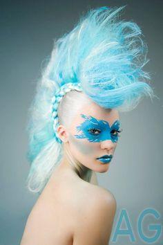 Mohawk Avant Garde Headpiece Headdress by PoshFairytaleCouture
