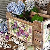Для дома и интерьера ручной работы. Ярмарка Мастеров - ручная работа Ящик Сливовый сад. Handmade.