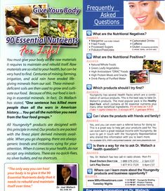 Youngevity Products: Frequently Asked Questions About Youngevity Health Vitamins, Health And Nutrition, Health And Wellness, Doctor Help, Naturopathy, Raw Materials, Fibromyalgia, Health And Beauty, Fun Facts