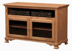 """Amish Heritage 49"""" TV Stand - Quick Ship Solid wood strength to stand in your living room for generations. The Heritage has it all, with storage space and fine Amish craftsmanship. #TVstand"""