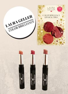Laura Geller's Color Brilliance Lipstick Trio Makeup is infused with Coconut Oil and Vitamin E Laura Geller, Vitamin E, Coconut Oil, Health Tips, Beauty Hacks, Eyeshadow, Lipstick, Skin Care, Cosmetics