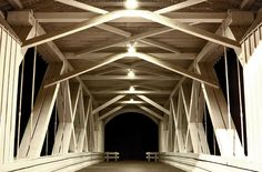 Jordan Bridge at night - Stayton, Oregon