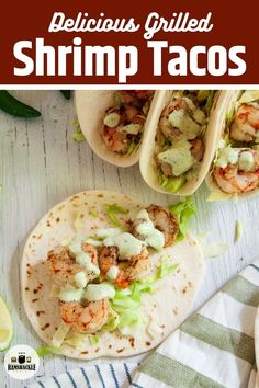 I love grilling and these Grilled Shrimp Tacos with Chili Lime Sauce are perfect for any time you are lucky enough get that grill going. This recipe is easy, the shrimp recipe is tasty, and the sauce is divine.