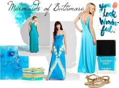 Mermaids of Baltimore, created by cocoloveslilacs on Polyvore