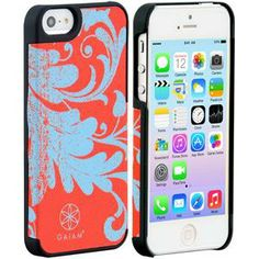 iPhone 5 Fabric Case Filigree Red