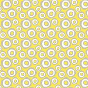 Fried Circles Grey 2 - ravenous - Spoonflower