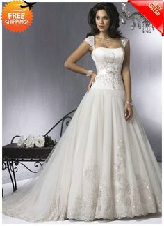 Free Shipping Ball Gown Off the Shoulder & Strapless Court Train Sexy Wedding Dresses - Ball Gown Wedding Dresses - Wedding Dresses