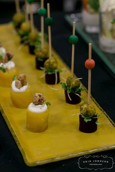 Golden Beets Cups, Beet Skewer with Pistachio Crusted Goat Cheese by D'Amico Catering, via Flickr