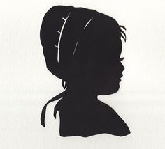Silhouette of an Amish Girl by Cheryl McNulty