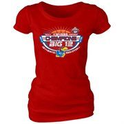 Kansas Jayhawks 2013 Men's Basketball Big 12 Tournament Champions Ladies Locker Room T-Shirt