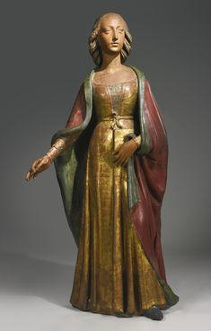 A LIFESIZE ITALIAN GILT AND PAINTED TERRACOTTA FIGURE OF MARY MAGDALENE, BY AGNOLO DI POLO (1470-1528), CIRCA 1495, PISTOIA Lot   Sotheby's