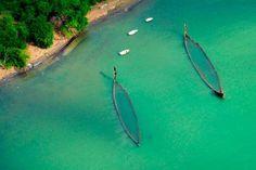 Versunkene Fischerboote an der Küste Mauritiens. (Afrikas Inseln: Kapverden, Sansibar und Co. - SPIEGEL ONLINE - Nachrichten - Reise)