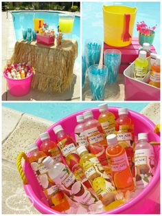 Ride the perfect wave to check out the totally awesome details of this Endless Summer surf party, providing refreshing ideas for your next pool party! Bubble Birthday Parties, Picnic Birthday, Tiki Party, Luau Party, Beach Party, Flamingo Party, Sommer Pool Party, Moana Themed Party, Moana Party