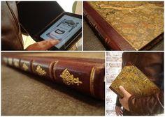 Hand bound iPad case.