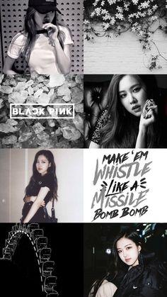 BLACKPINK ROSÉ Aesthetic Collage, Kpop Aesthetic, Aesthetic Iphone Wallpaper, Aesthetic Wallpapers, Blue Aesthetic Pastel, Aesthetic Black, K Pop, Black Pink Kpop, Rose Park