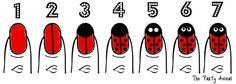 7 EASY steps to create a Ladybug Nail Design