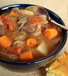 Oven Baked Beef Stew from Food.com:   This is a favorite fall meal in my house. It's easy and frees you up to do something else while it simmers away. Add Potatoes and you have a one pot meat.