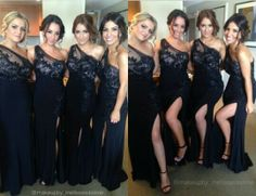 Stunning black bridesmaid dresses