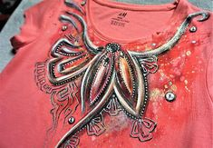 zeiko / Koralový šperk -  detské tričko Hand Painted Dress, Textiles, Clothes, Jewelry, Fashion, Outfits, Moda, Clothing, Jewlery