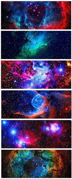 Nebulas of the Universe - artificially colored for max grooviness