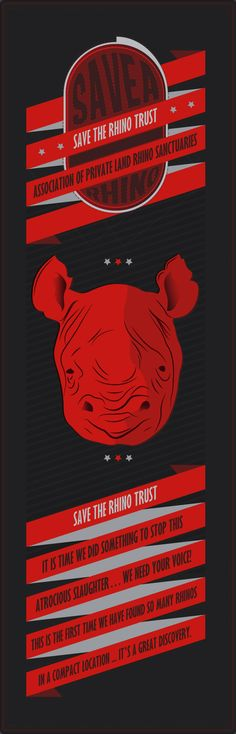 Poster Design :: The Worlds Rhino saga. *Save the Rhino* #UrbanisationDesign.com
