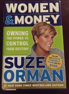 Suze Orman Women & Money Book Hardback Control Destiny Personal Finance
