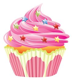 Illustration about Illustration of pink cupcake with sprinkles. Illustration of snack, happiness, fairy - 14569592 Cupcake Pictures, Cupcake Images, Cupcake Drawing, Cupcake Art, Cupcake Clipart, Cupcake Illustration, Cartoon Girl Images, Blue Cupcakes, Kawaii Dessert