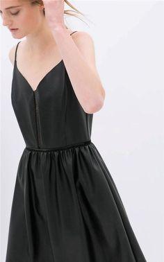 NWT ZARA FAUX LEATHER DRESS WITH STRAPS SS14 BLACK SIZE S #ZARA #Casual