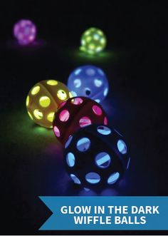 Glow in the Dark Wiffle balls for outside parties with or without kids! Just push the glow sticks into a golf wiffle ball and start golfing! Diy For Kids, Crafts For Kids, Wiffle Ball, Party Fiesta, Easy Diy Crafts, Fun Diy, Glow Party, Spa Party, Disco Party