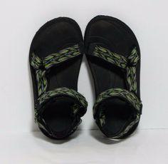 1f87408b5dbe TEVA Hurricane 2 Sport Sandal Green Black Waterproof Hiking Shoe Kids Youth  1 EX  fashion