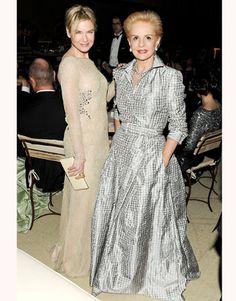 With Renee Zellweger at The Metropolitan Museum of Art's Benefit celebrating the Alexander McQueen: Savage Beauty exhibition, 2011.   - HarpersBAZAAR.com