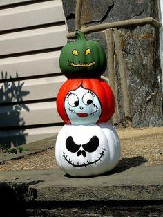 Nightmare Before Christmas pumpkins #JackSkellington #NightmareBeforeChristmas #pumpkin # jackolantern #Halloween