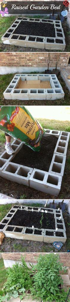 Make A Planter With Cinder Blocks