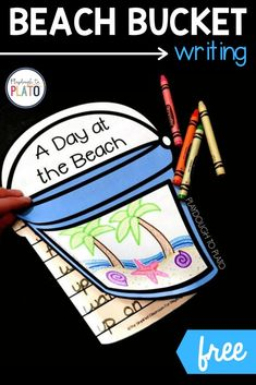 Whether you're planning a trip to the beach or you're just dreaming about warm summer weather, this engaging writing project is a must-try activity for kindergarten or first grade. Kids will love this as a fun writing center or homeschool activity! Kindergarten Writing Activities, Playdough To Plato, Beach Bucket, Science Lessons, Summer Art, First Grade, Homeschool, How To Plan, Projects