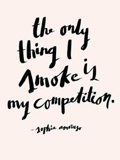 Sophia Amoruso #GIRLBOSS Quote [Pink] Art Print